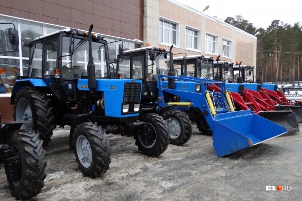 Новые тракторы из Белоруссии