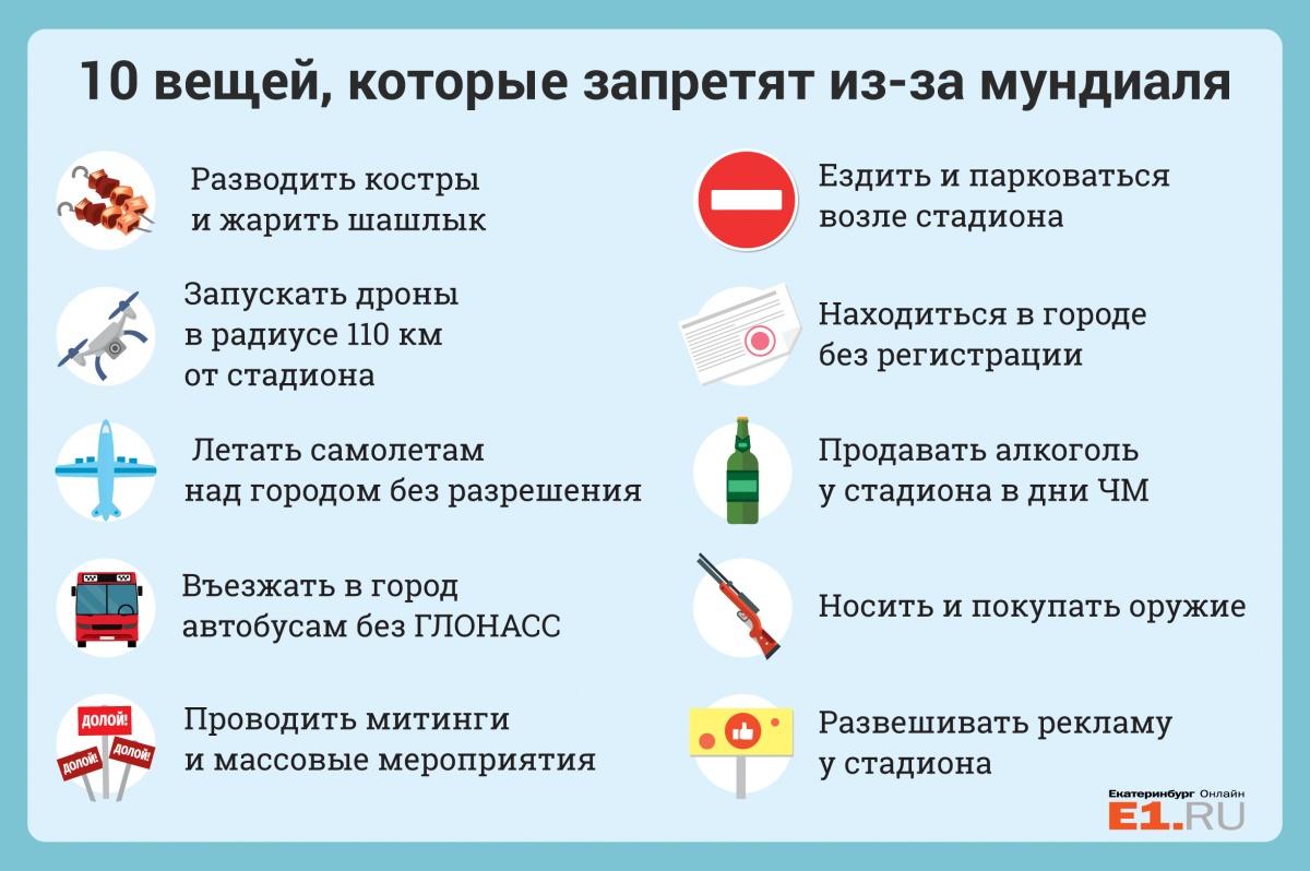 206c24a2555a Ни шашлыков, ни пива  как изменится жизнь екатеринбуржцев на время ЧМ-2018