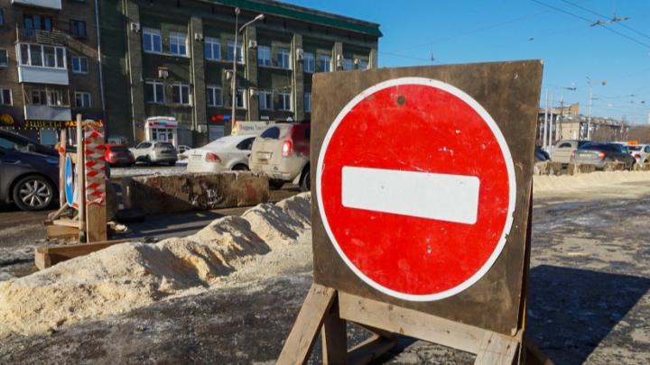 В Закамске из-за перекрытия дороги изменится движение транспорта