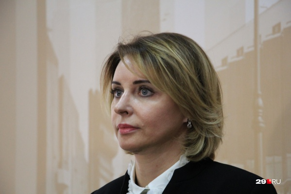"""В сентябре 2018 года Сырова<a href=""""https://29.ru/text/politics/65429251"""" target=""""_blank"""" class=""""_"""">во второй раз</a>стала спикером Архгордумы"""