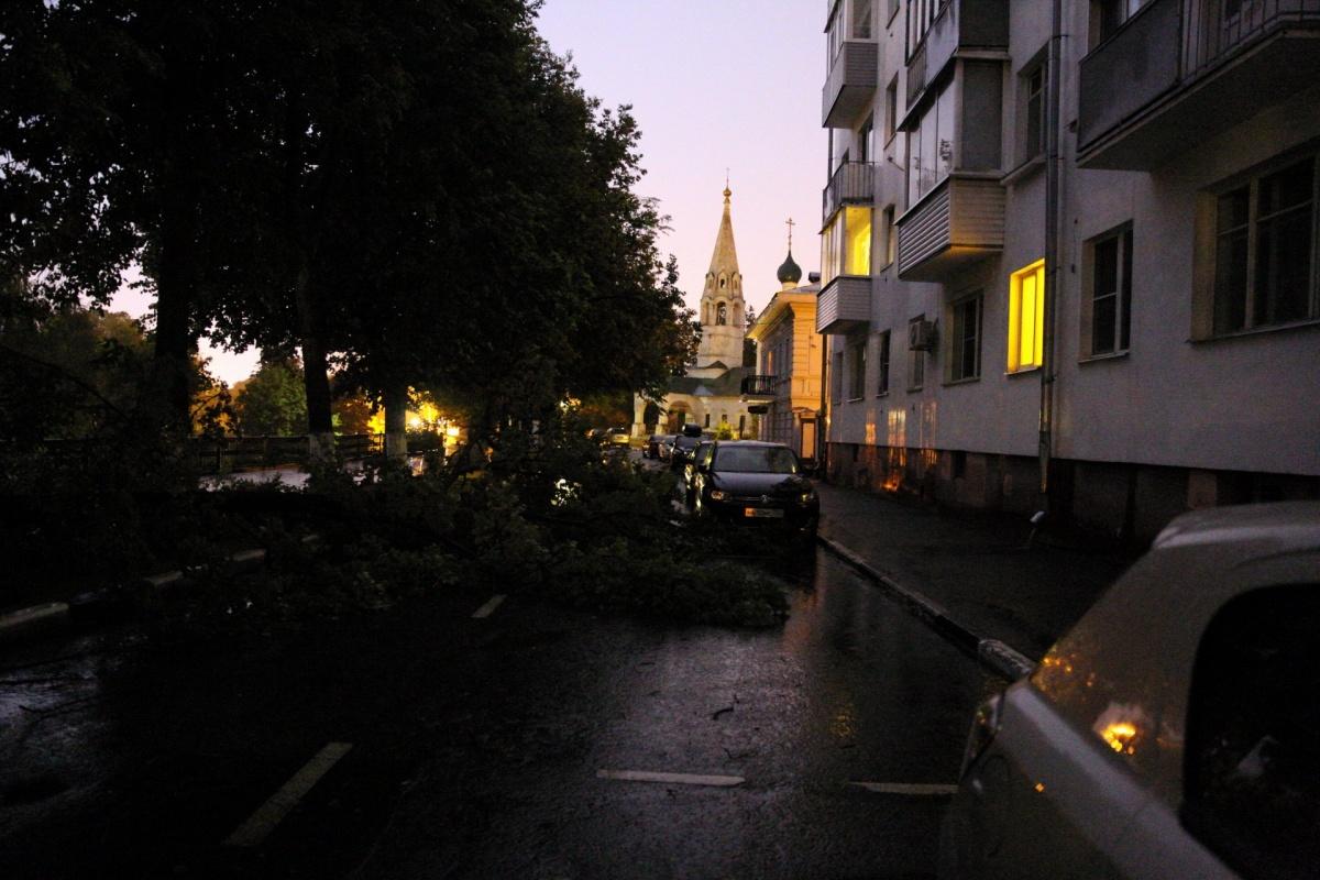 Сообщения о рухнувших деревьях приходили из разных районов города
