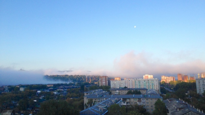 Как появлялся туман: красноярец снял завораживающее видео