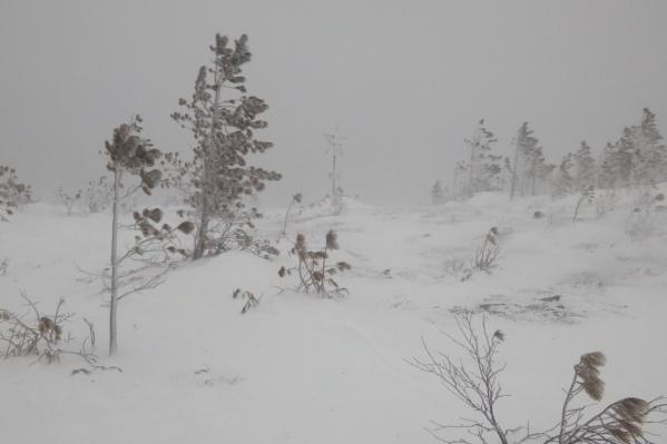 Такая видимость была на горе, когда потерялись туристки. Фото от Евгения, знакомого, который встретил их на пути