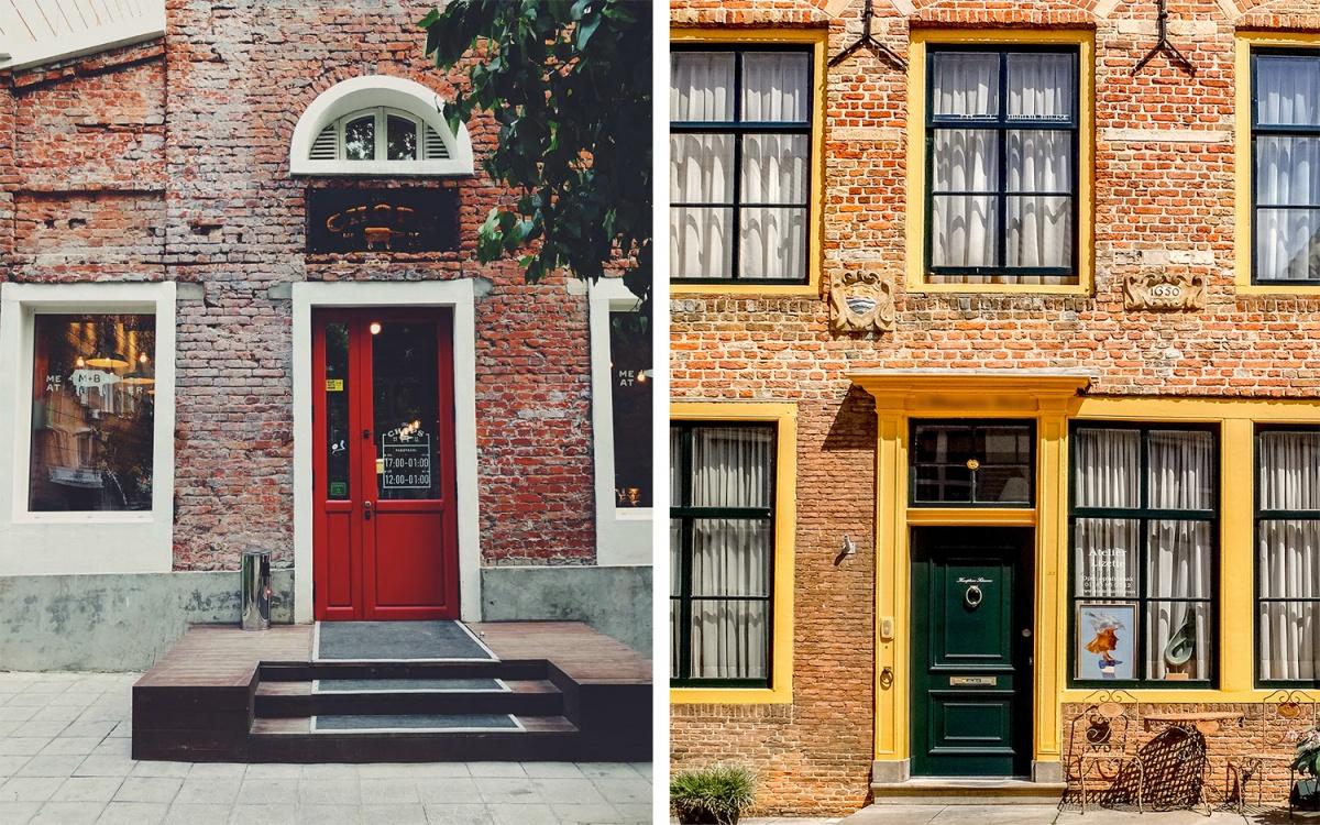 Слева — Новосибирск Справа — Нидерланды
