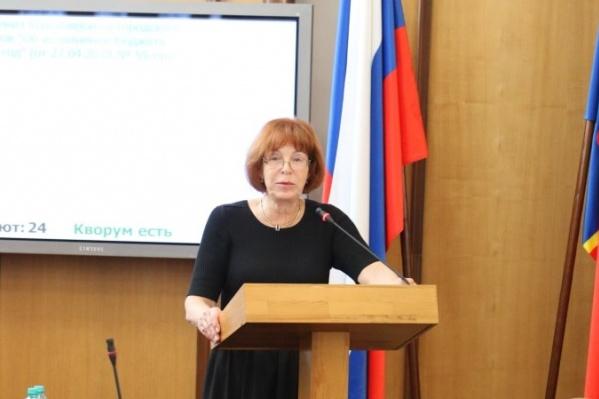 Кандидат на пост руководителя городского совета Наталья Фирюлина