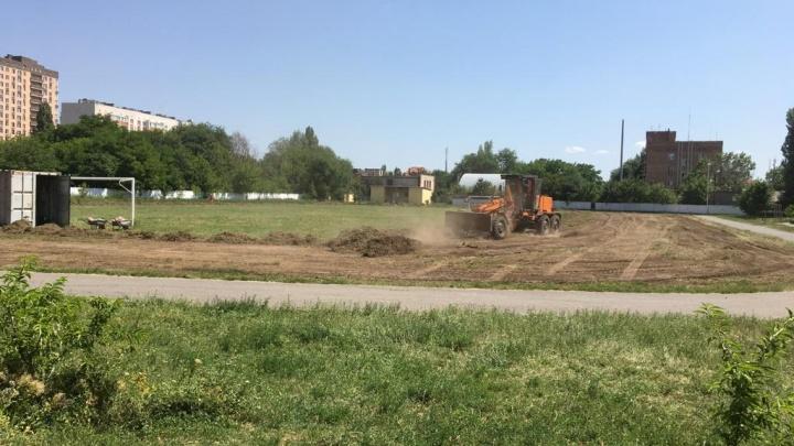 В Аксае построят современное футбольное поле