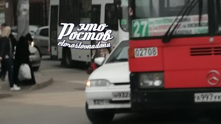 В центре Ростова из-за ДТП образовалась большая пробка