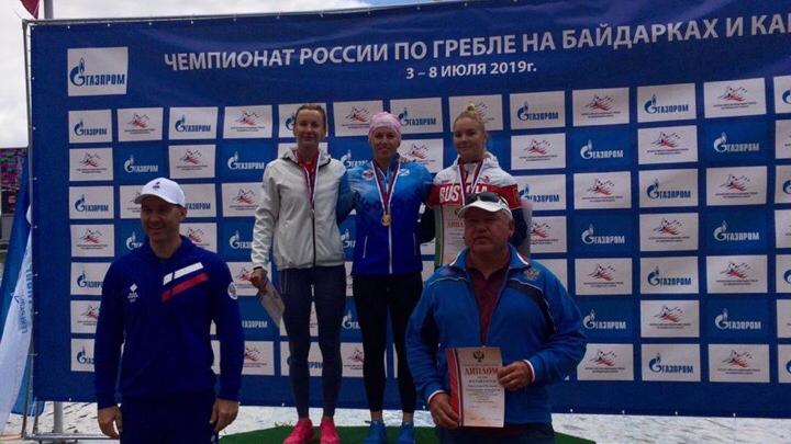 Архангелогородка взяла три медали на чемпионате России по гребле на байдарках