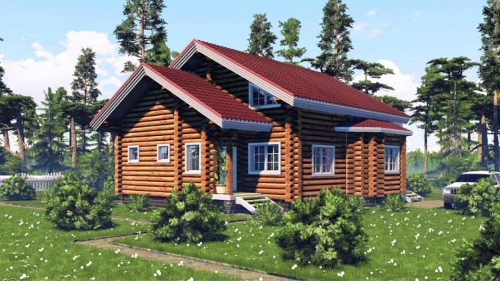 Загородный оазис: строим дом из оцилиндрованного бревна