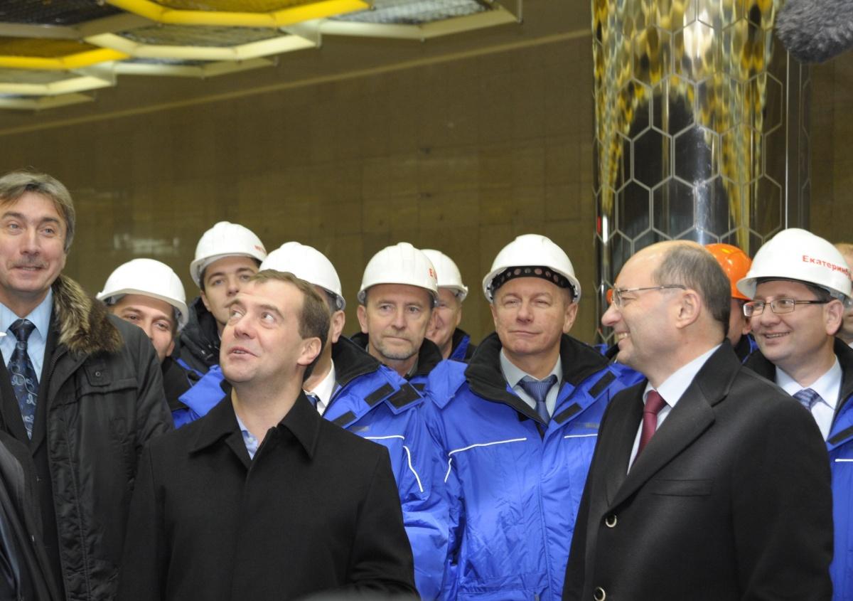 Дмитрий Медведев открыл станцию метро «Ботаническая»