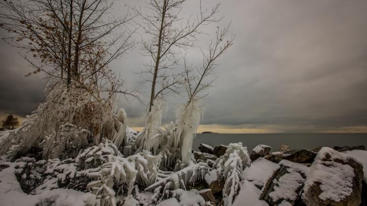 Будет очень скользко: в Новосибирске начался опасный ледяной дождь