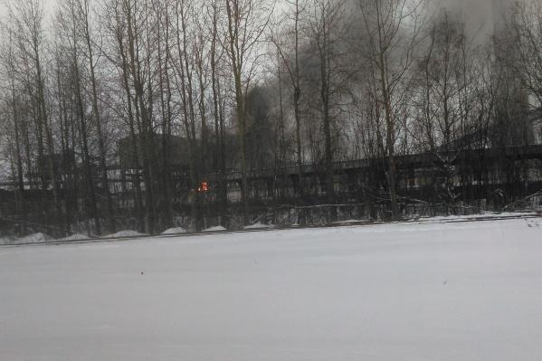 Возгорание произошло на территории ТЭЦ