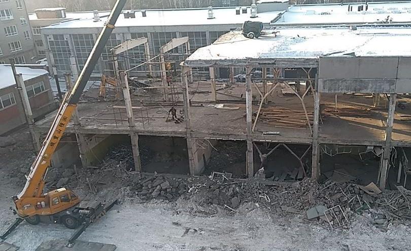 В НГТУ начали перестраивать старый корпус: в нём станет пять этажей вместо двух