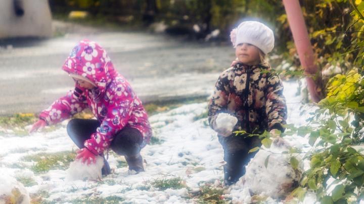 Челябинцы делятся великолепными снимками снежной осени