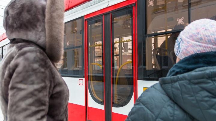 «Снег упал на рельсы с крыши рынка»: в 15-м микрорайоне полтора часа стояли трамваи