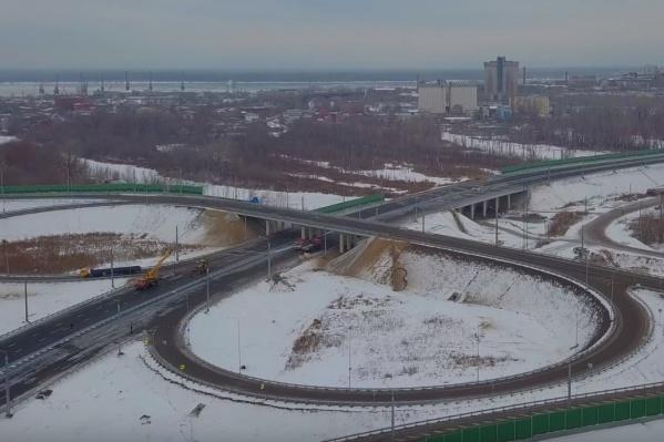 Это развязки со стороны Куйбышевского района