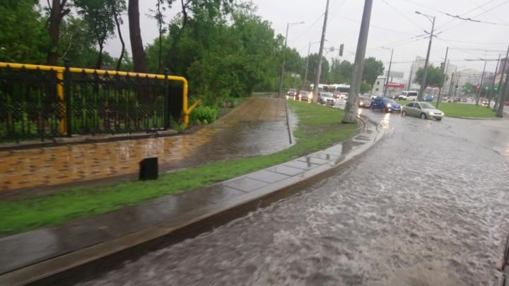Подрядчика попросят починить по гарантии размытое Московское шоссе