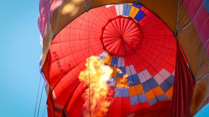 Надули гиганта: в Челябинске запустили самый большой на Урале воздушный шар