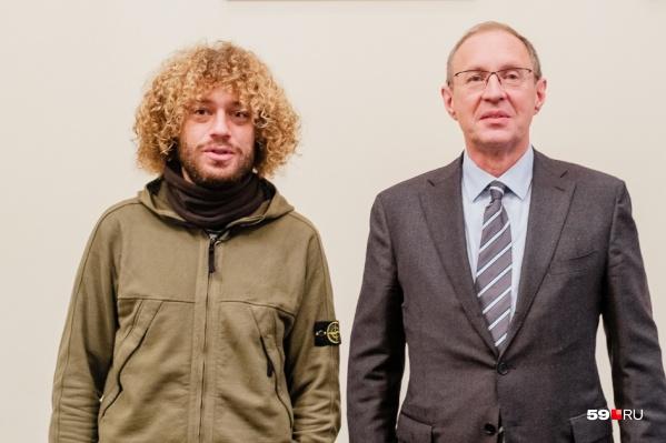 Илья Варламов с мэром Перми Дмитрием Самойловым