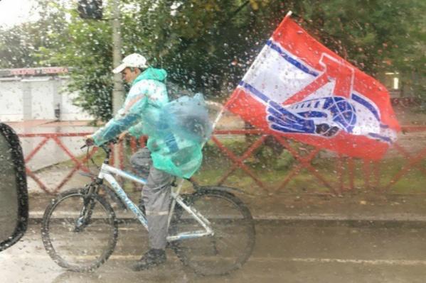 В случае дождя велосипедисты решили сократить маршрут
