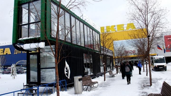 На парковке «МЕГИ» появилась двухэтажная кофейня из контейнеров