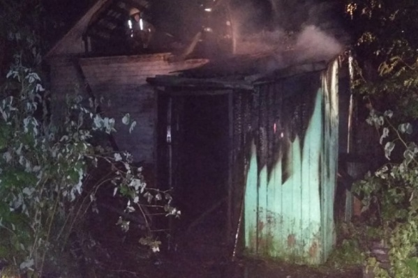 Пожар в частном доме на левом берегу Архангельска произошёл из-за поджога