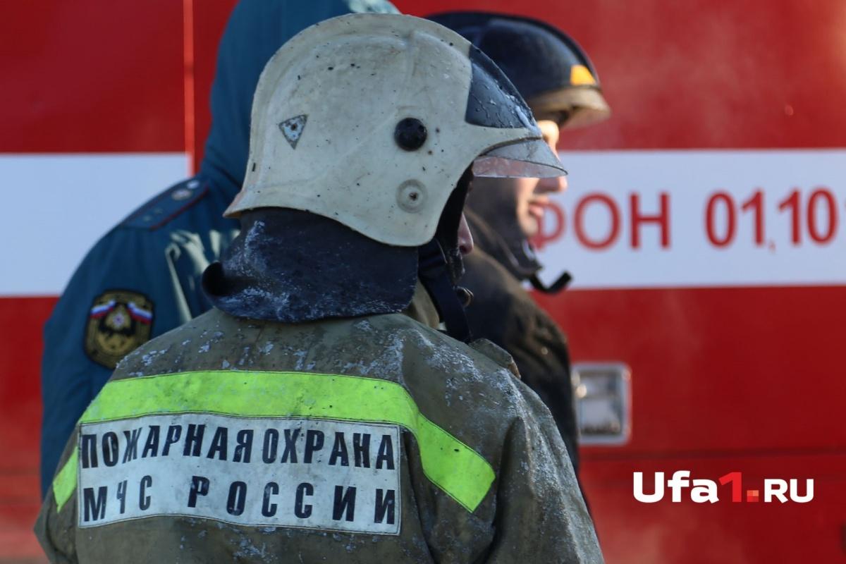 На месте работали семеро пожарных