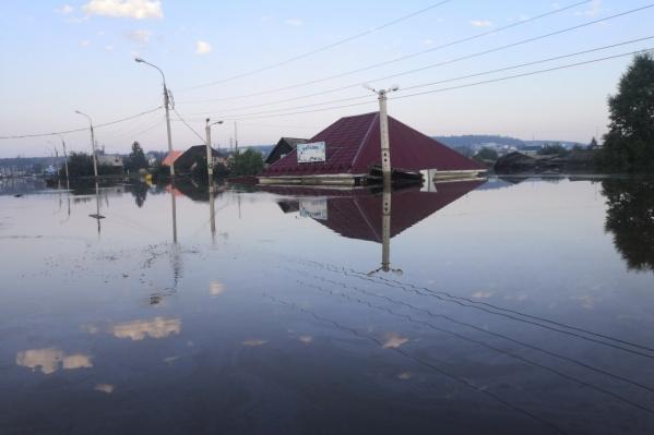 Последствия потопа в Тулуне Иркутской области