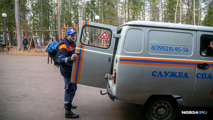 В воскресенье спасатели трижды выезжали на «Столбы» к травмированным туристам