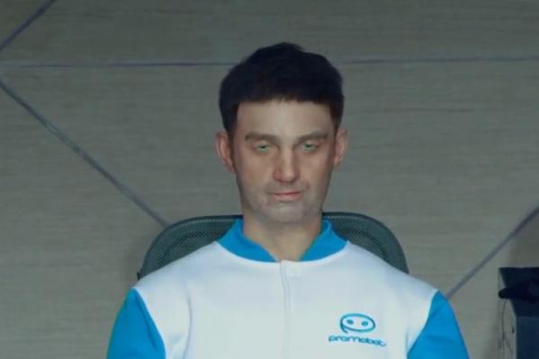Лицо робота полностью повторяет лицо руководителя компании Алексея Южакова