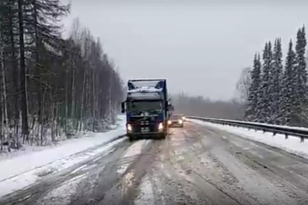 Движение на автодороге затруднено от границы с Башкирией до Миасса