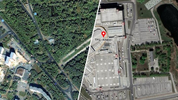 Что было вместо ТРК «Алмаз» и как изменился Челябинск? Разглядываем город на снимках со спутника