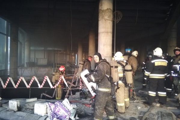 Пожар произошел в подвальном помещении