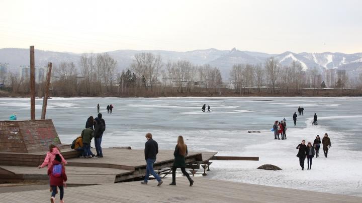 «Устроили место для фотосессий»: выросло число провалившихся под лёд красноярцев в центре