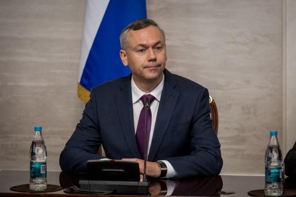 Андрей Травников в правительстве Новосибирской области днём 9 октября