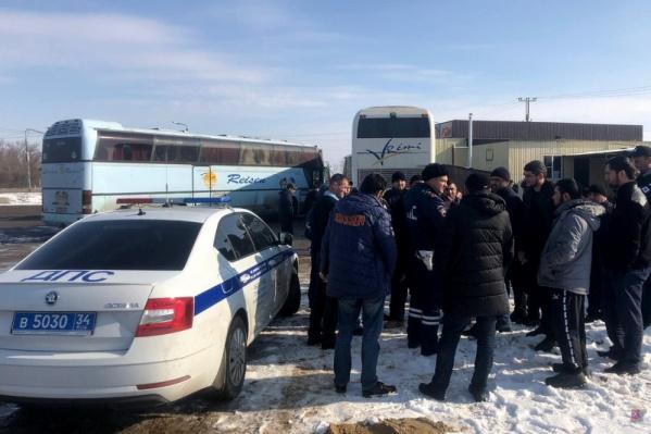 Автобус остановили во Фроловском районе Волгоградской области