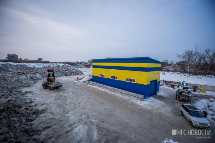 Так выглядит снегоплавильная станция в Новосибирске