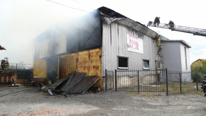 В Кургане ликвидировали крупный пожар в магазине стройматериалов