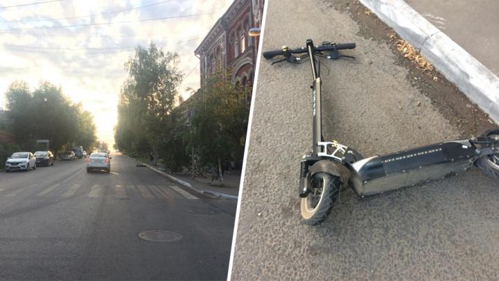 Под Самарой автомобилистка сбила школьника на электросамокате