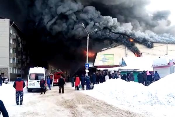 В Искитиме произошел крупный пожар