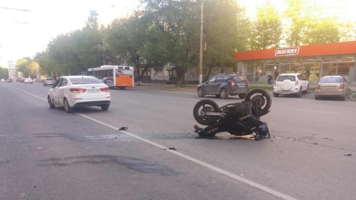 В Перми мотоциклист пострадал в ДТП с иномаркой