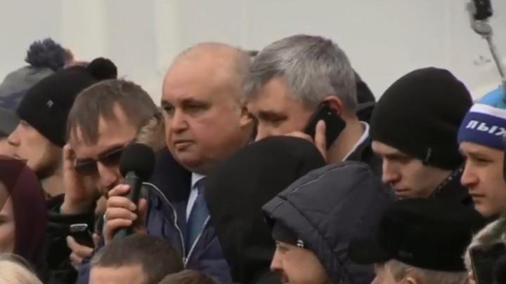 Митинг у администрации в Кемерово: видеотрансляция с места событий