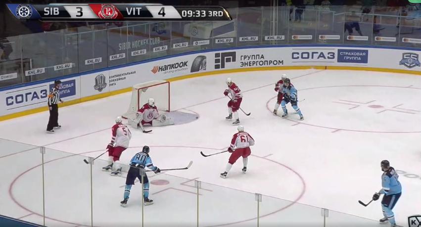 «Сибирь» врезультативном матче дома уступила «Витязю»
