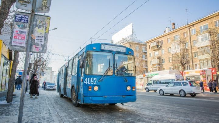 На Бориса Богаткова из-за обрыва проводов встали троллейбусы