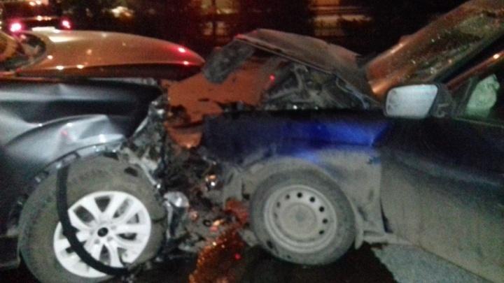 Авария на «пьяной» в Уфе: автомобиль превратился в груду железа