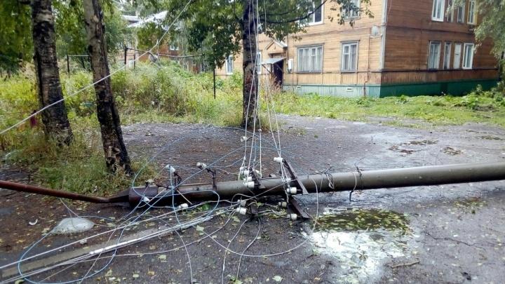 В Архангельске продолжают восстанавливать электроснабжение после шторма