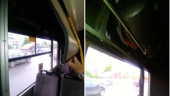 Из-за взрыва воздушного баллона в тюменском автобусе №25 пассажирка получила контузию