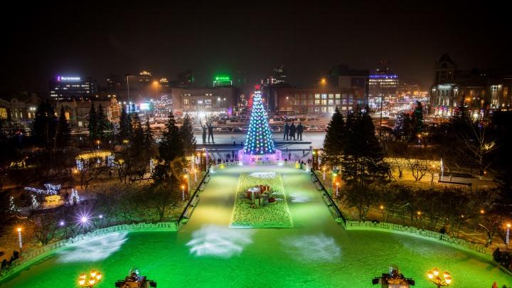 Прямой эфир с открытия главной ёлки Новосибирска у оперного театра: смотрите вместе с НГС