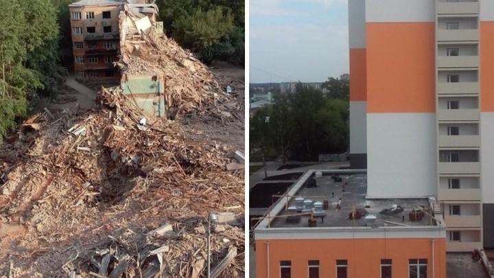 Рухнуло и выросло за несколько секунд: смотрим, как сносили и строили новую общагу УрФУ на Комсомольской
