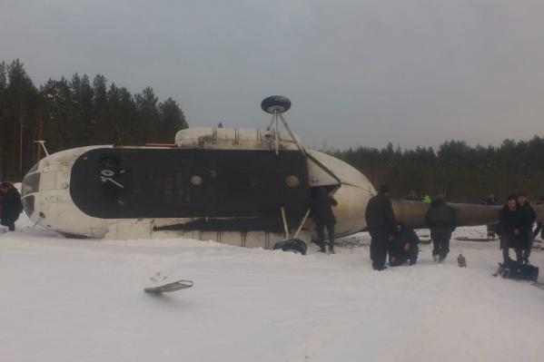 При жёсткой посадке вертолёта в Томской области пострадали пять человек
